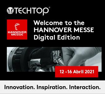 TECHTOP expone en la primera Edición Digital de la Hannover Messe